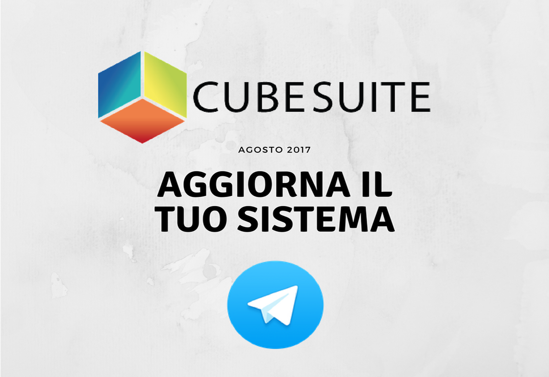 CubeSuite integra Telegram